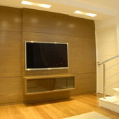 Hispada - Projetos - Home theater - Home theater com marcenaria sob medida - [Projeto 3]